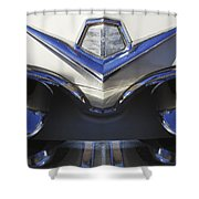 Dodge Custom Royal V8 Hood Ornament Shower Curtain