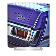 Dodge Dart Swinger Shower Curtain