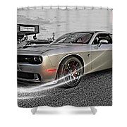 Dodge Hellcat Shower Curtain