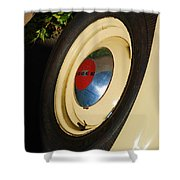 Dodge Tire Shower Curtain