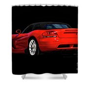 Dodge Viper 'red Tail' Roadster Shower Curtain