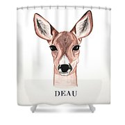 Doe Deer Shower Curtain