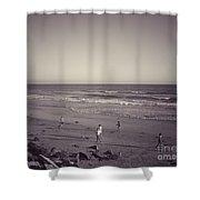 Dog Beach Shower Curtain