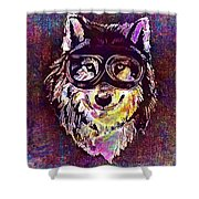 Dog Funny Cheeky Cap Animal Wild  Shower Curtain
