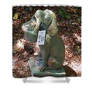 Dog Garden Statues Shower Curtain