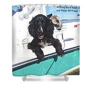 Dog Happy Birthday Card Shower Curtain