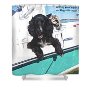 Dog Happy Birthday Card Shower Curtain