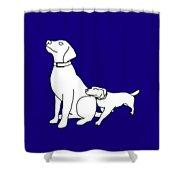 Dog Love Tee Shower Curtain