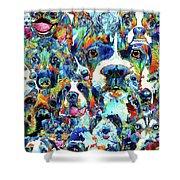 Dog Lovers Delight - Sharon Cummings Shower Curtain