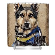 Dog Traditional Drawing Shower Curtain