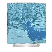 Dog Vs Perch 2 Shower Curtain