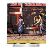 Dog Walkers Shower Curtain
