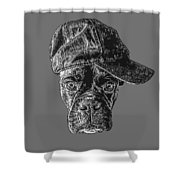 Dog With Attitude Shower Curtain