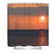Dogashima Sunset Shower Curtain