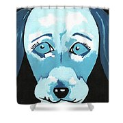 Doggie Blues Shower Curtain