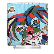 Doggie Dreams - Cute Animals Shower Curtain