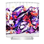 Doggies And Dolphins Shower Curtain