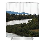 Dogleg Shower Curtain