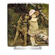 Dog's Company Shower Curtain by Edgard Farasyn