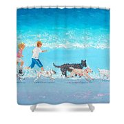 Dogs Day Out Shower Curtain