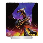 dogs of the future Keith Parkinson Shower Curtain