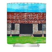 Dogtrot Cracker Home  Shower Curtain