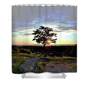Dogwood On Little Round Top Shower Curtain