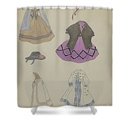 Doll And Wardrobe Shower Curtain