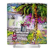 Doll House In Turre Shower Curtain