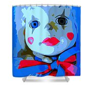 Doll In Blue Shower Curtain