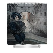 Doll In Venice Shower Curtain