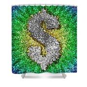 Dollar Sign Pop Art Shower Curtain