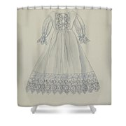 Doll's Dress Shower Curtain