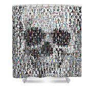 Dolls Skull Mosaic Shower Curtain