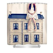 Dolly And Her House Shower Curtain