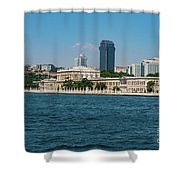 Dolmabahce Palace On The Bosphorus Shower Curtain