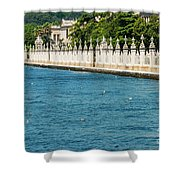 Dolmabahce Palace Tower And Fence Shower Curtain