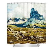 Dolomites, Monte Piana, Italy Shower Curtain