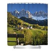 Dolomites View Shower Curtain