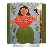 Dolores Huerta Shower Curtain