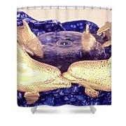 Dolphin Family Shower Curtain