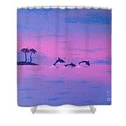 Dolphin Island Shower Curtain