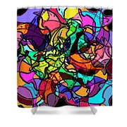 Dolphin Kaleidoscope Shower Curtain