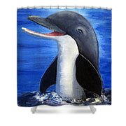 Dolphin Laughing Shower Curtain