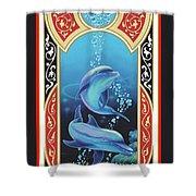 Dolphin Mecca Shower Curtain