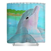 Dolphin Smile Shower Curtain