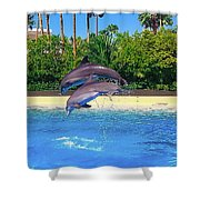 Dolphins Dance Shower Curtain
