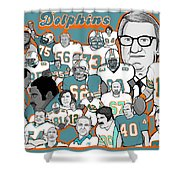 Dolphins Ring Of Honor Shower Curtain