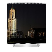 Dom Tower And Dom Church In Utrecht In The Evening 2 Shower Curtain