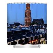 Dom Tower In Utrecht At Dusk 24 Shower Curtain